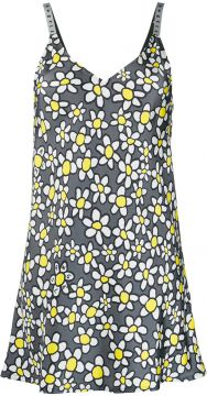 Daisy-print Slip Dress - Palm Angels