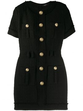 Button Fitted Dress - Balmain