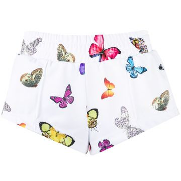 Butterfly Print Track Short - Palm Angels
