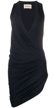 Asymmetric Draped V-neck Mini Dress - Alexandre Vauthier