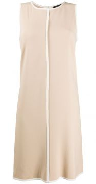 Contrast Piped Trim Sleeveless Dress - Antonelli