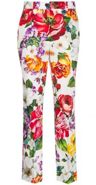 Floral Cropped Trousers - Dolce & Gabbana