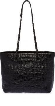 Lettering Logo Quilted-effect Tote - Miu Miu