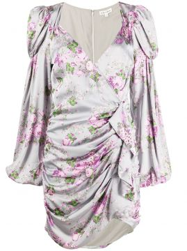 Floral Ruched Mini Dress - For Love And Lemons