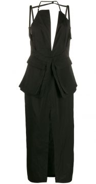 Fitted Backless Midi Dress - Jacquemus