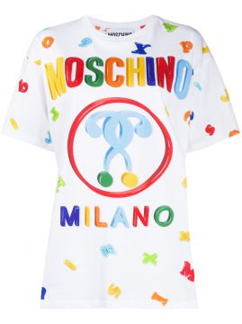 Logo Letter Printed T-shirt - Moschino