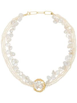 Gold-plated Pearl Necklace - Hermina Athens