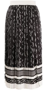 Pleated Midi Skirt - Elisabetta Franchi