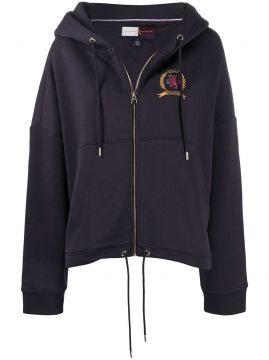 Crest Logo Zipped Hoodie - Hilfiger Collection