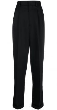 Wide Fit Pleated Trousers - Ami Paris