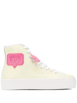 High-top Glittered Sneakers - Chiara Ferragni