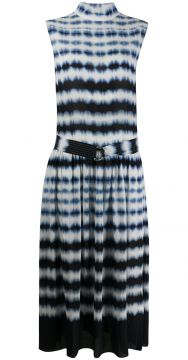 Tie-dye Belted Dress - Boon The Shop