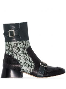Cheryl 35mm Snake-effect Leather Ankle Boots - Chloé