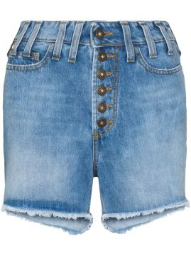 Short Jeans Cintura Alta Com Efeito Destroyed - Faith Connex