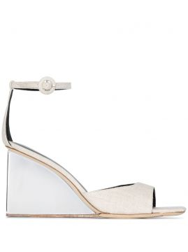 Dima 95 Perspex Wedge Sandals - By Far