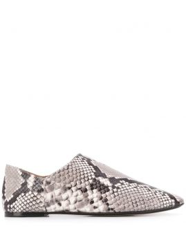 Snakeskin-effect Collapsable-heel Loafers - Joseph