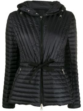Padded Belted Jacket - Moncler