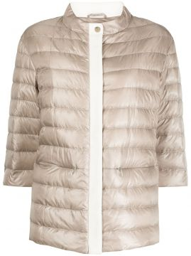 Funnel-neck Quilted-down Jacket - Herno