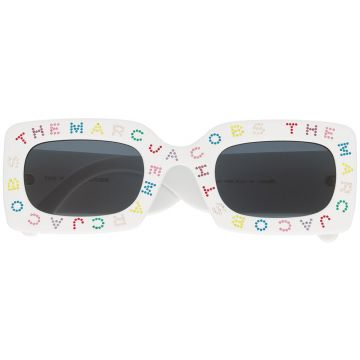 Embellished Logo Square Sunglasses - Marc Jacobs Eyewear