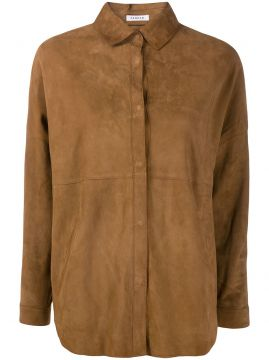 Oversized Leather Shirt - P.a.r.o.s.h.