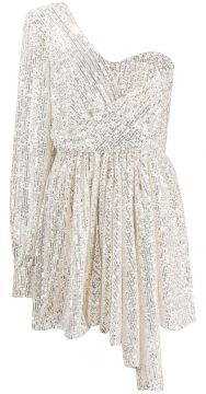 Sequined One-sleeve Dress - Amen