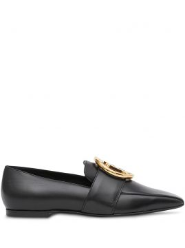 Monogram Motif Leather Loafers - Burberry