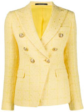 Double Breaste Tweed Blazer - Tagliatore