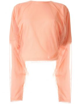 Mesh-panelled Jersey Top - Y/project