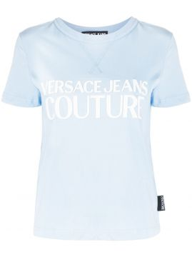 Logo Print Round Neck T-shirt - Versace Jeans Couture