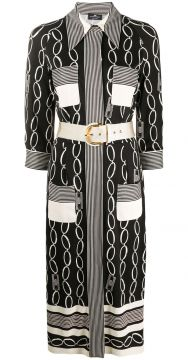 Mixed-print Midi Shirt Dress - Elisabetta Franchi