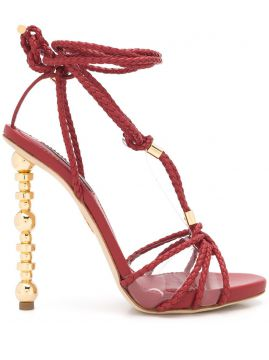 Woven Strappy High Heel Sandals - Dsquared2