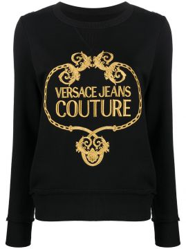 Baroque Logo Embroidered Sweatshirt - Versace Jeans Couture