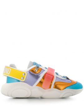 Teddy Roller Skates Colour-block Low-top Sneakers - Moschino