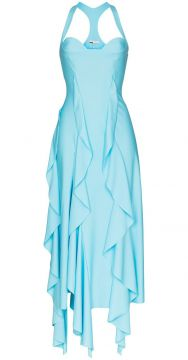 Asymmetric Ruffled Gown - Gmbh