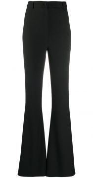 High-waisted Flare Trousers - Hebe Studio