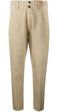 High Waisted Cropped Trousers - Current/elliott