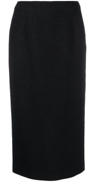 High Waisted Fitted Skirt - Alessandra Rich