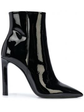Pointed Toe Ankle Boots - Saint Laurent