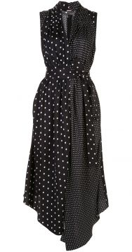 Polka-dot Asymmetrical Dress - Adam Lippes