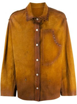 Faded Leather Overshirt - Golden Goose