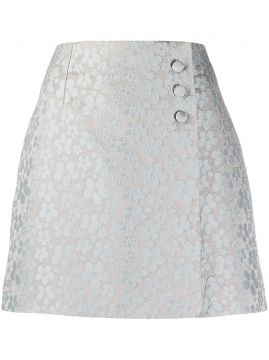 A-line Embroidered Floral Skirt - Alexa Chung