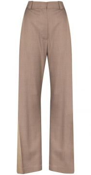 Two-tone Wide-leg Trousers - Eftychia