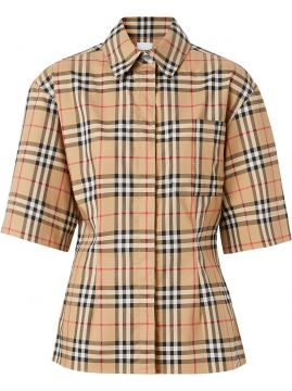 Vintage Check Short-sleeved Shirt - Burberry