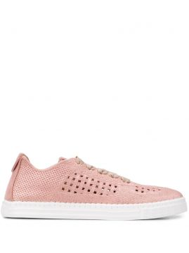 Basket-woven Low-top Trainers - Agl