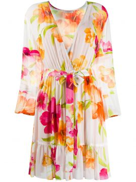 Floral Pleated Dress - Twin-set