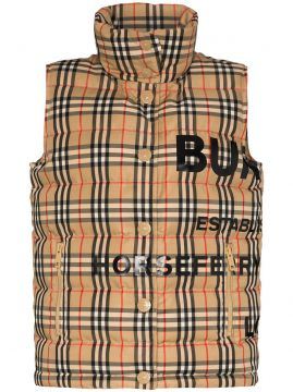 Sterling Vintage Check Puffer Gilet - Burberry