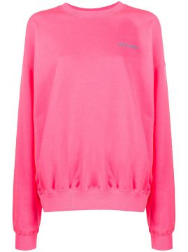 Embroidered Logo Cotton Sweatshirt - Irene Is Good