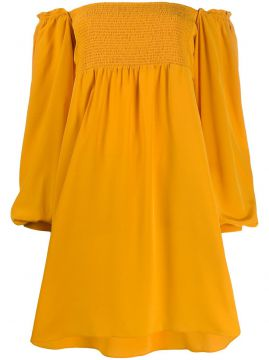 Off-the-shoulder Long Smocked Top - Dorothee Schumacher