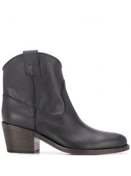 Western Style Ankle Boots - Via Roma 15