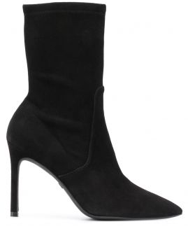 Pointed Toe 90mm Ankle Boots - Stuart Weitzman